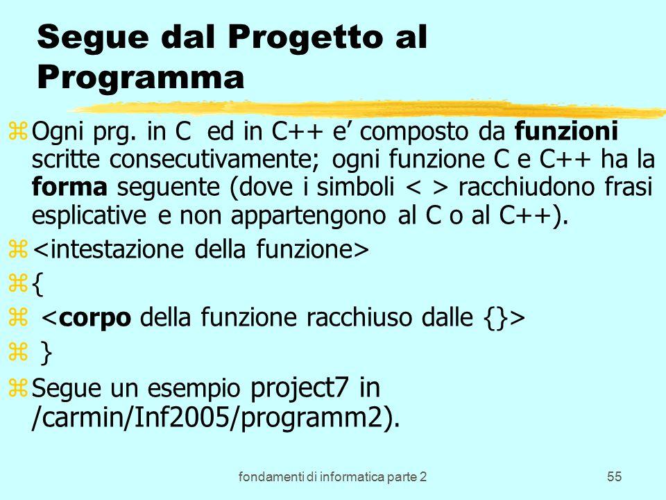 fondamenti di informatica parte 255 Segue dal Progetto al Programma zOgni prg.
