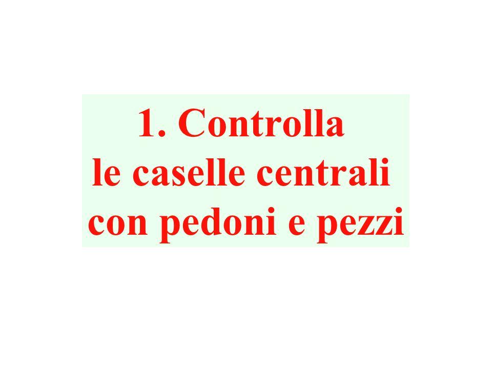 1. Controlla le caselle centrali con pedoni e pezzi