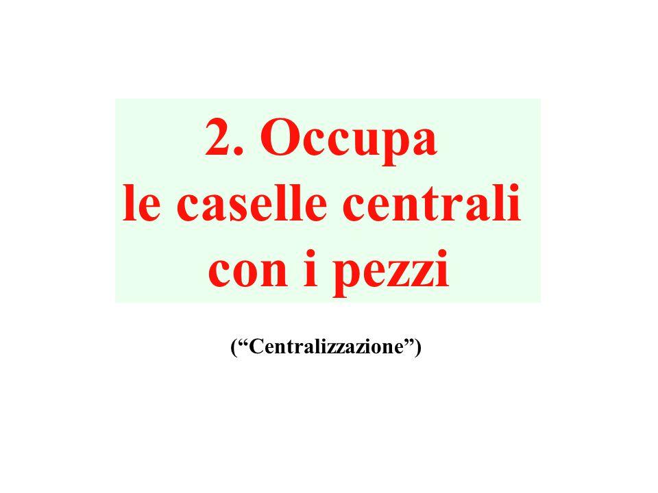 2. Occupa le caselle centrali con i pezzi ( Centralizzazione )