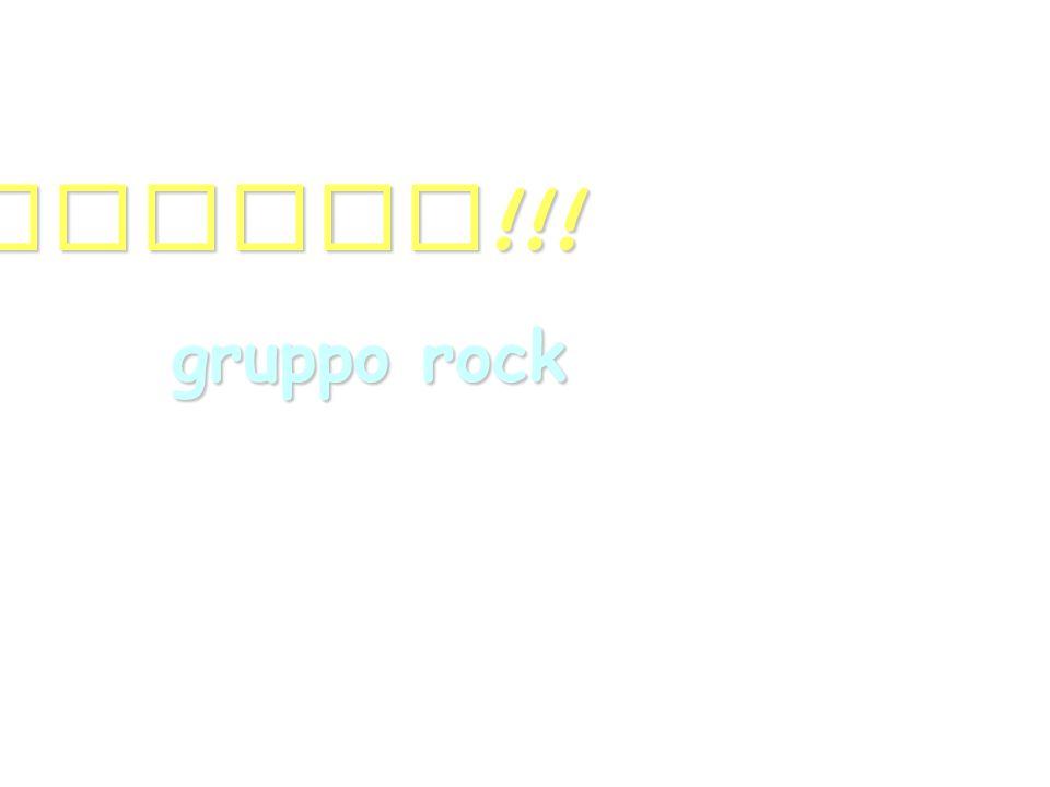 GRAZIE !!! gruppo rock