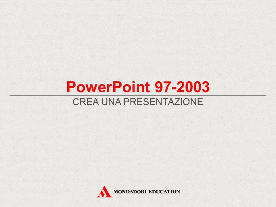 PowerPoint 97-2003 CREA UNA PRESENTAZIONE
