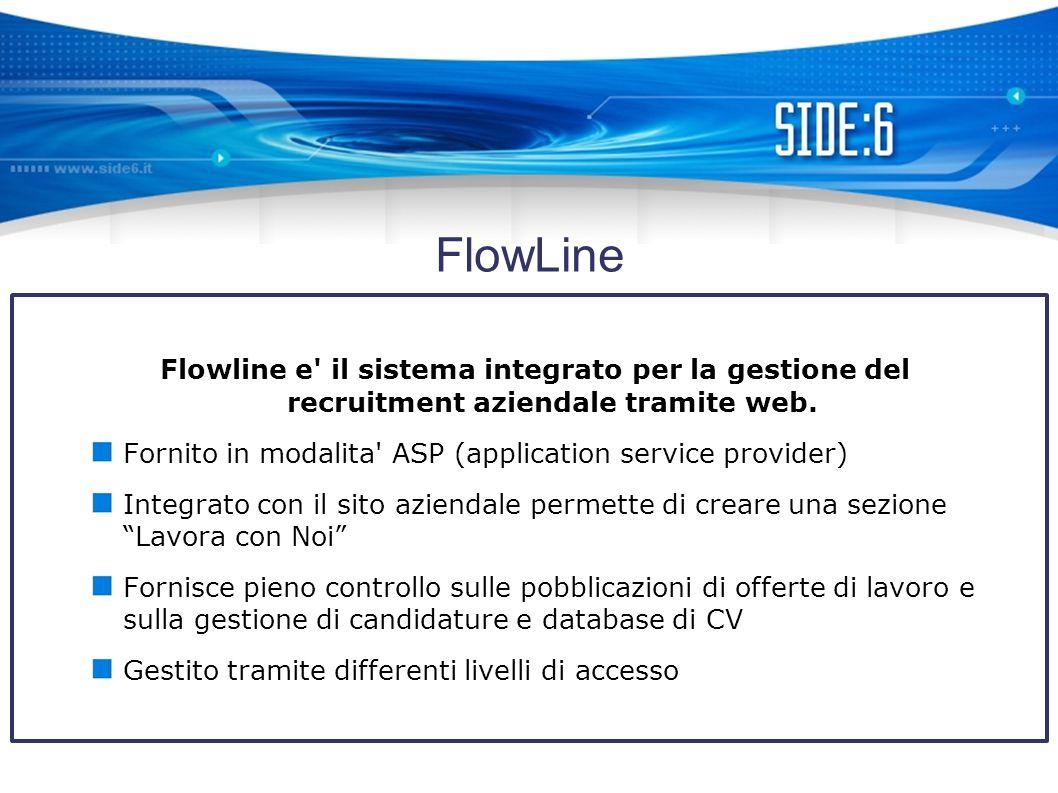 FlowLine Flowline e il sistema integrato per la gestione del recruitment aziendale tramite web.