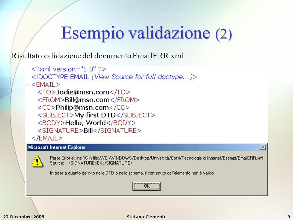 22 Dicembre 2005Stefano Clemente70 6.