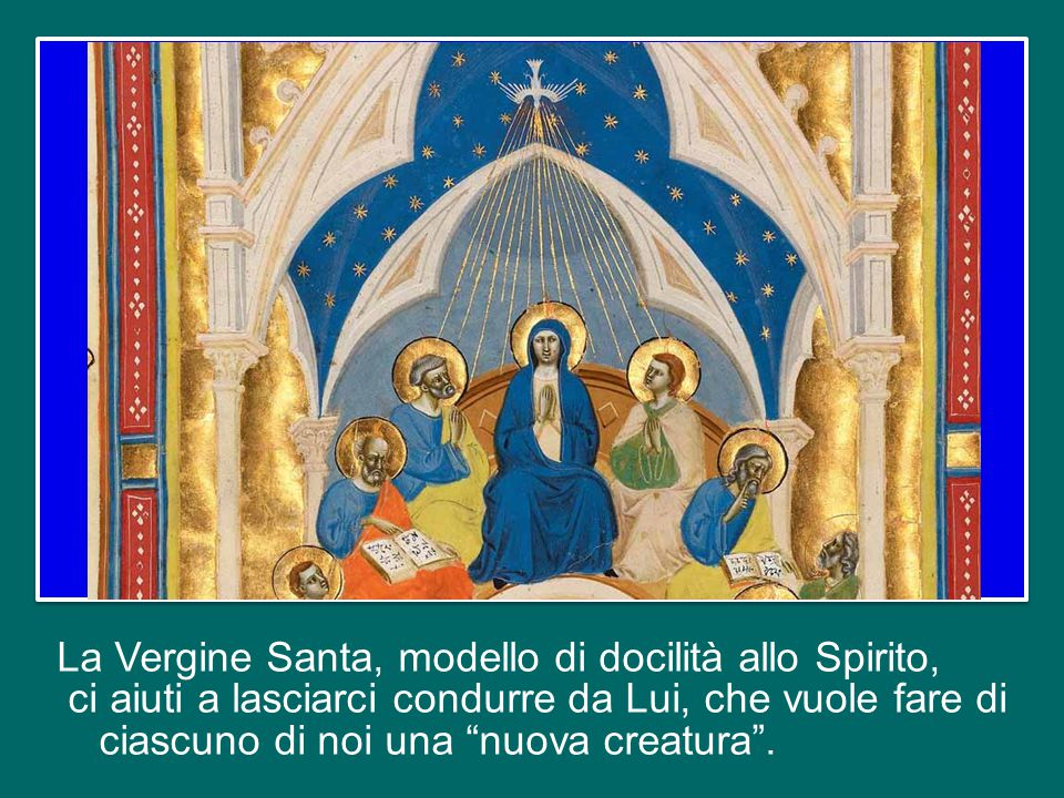 E alla fine dell'itinerario quaresimale, nella Veglia Pasquale, potremo rinnovare con maggiore consapevolezza l'alleanza battesimale e gli impegni che da essa derivano.