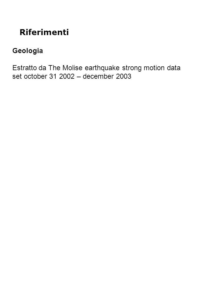 Riferimenti Geologia Estratto da The Molise earthquake strong motion data set october 31 2002 – december 2003