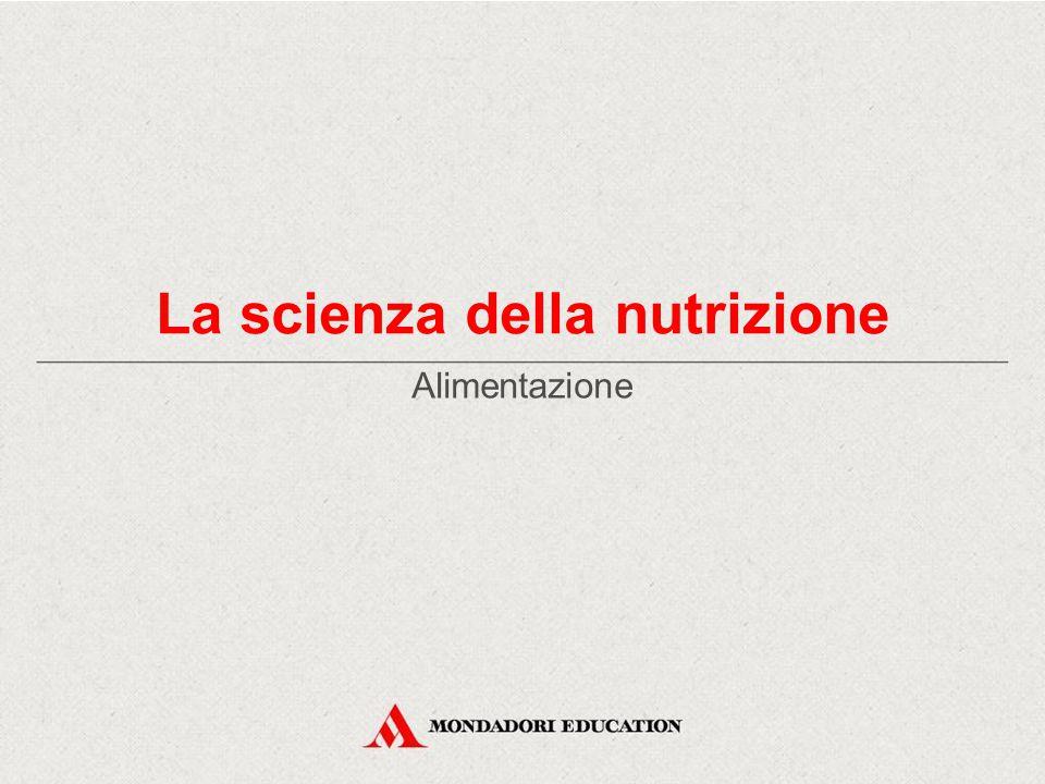La scienza della nutrizione Alimentazione