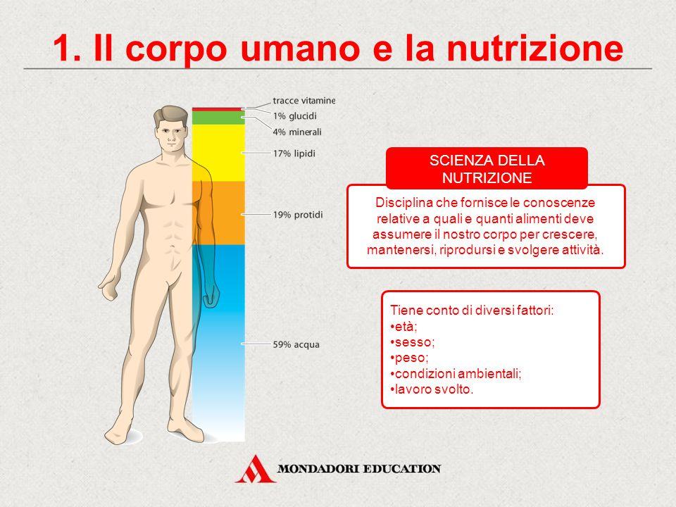 La scienza della nutrizione CONTENUTI 1. Il corpo umano e la nutrizione La mia settimana alimentare 3. I principi nutritivi 2. Le funzioni degli alime