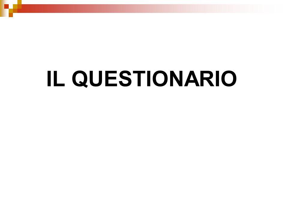 La progettazione del questionario: la terza fase La verifica del questionario il pre-test il test delle alternative l'indagine pilota