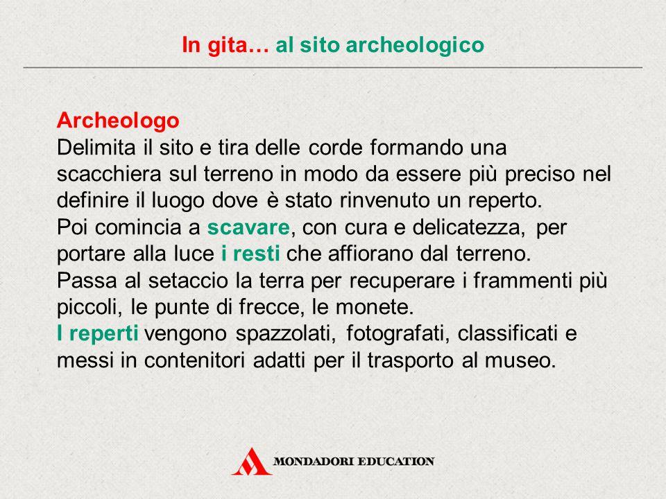 In gita… al sito archeologico Antropologo Studia l'origine dell'uomo, la sua evoluzione e come gli esseri umani sono vissuti dalla loro apparizione sulla Terra fino a oggi.
