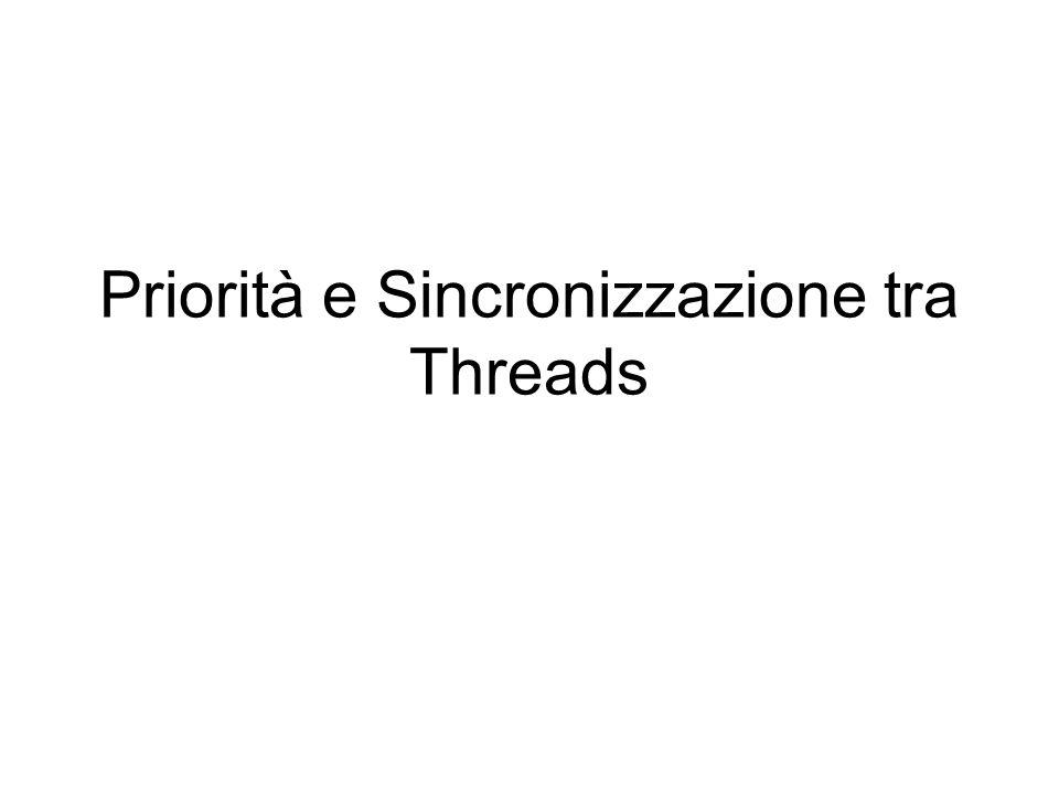 Priorità e Sincronizzazione tra Threads