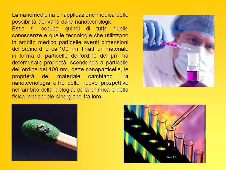 La nanomedicina è l'applicazione medica delle possibilità derivanti dalle nanotecnologie. Essa si occupa quindi di tutte quelle conoscenze e quelle te