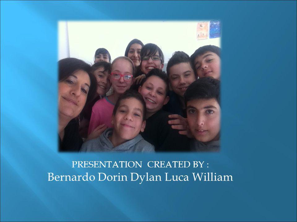 PRESENTATION CREATED BY : Bernardo Dorin Dylan Luca William