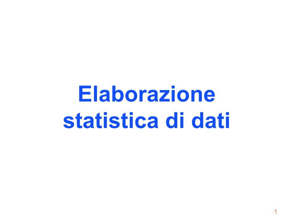 1 Elaborazione statistica di dati