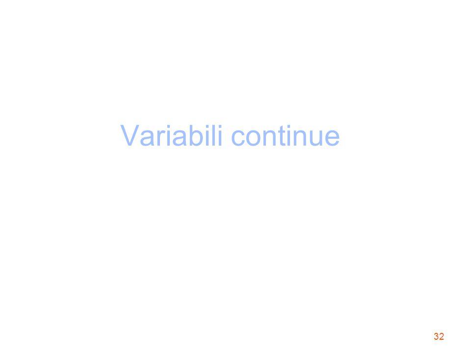 32 Variabili continue