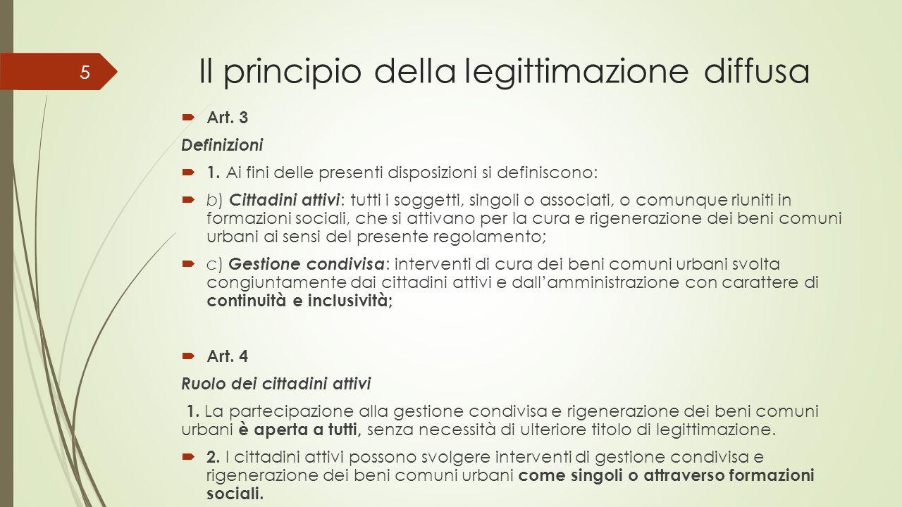 Il principio della legittimazione diffusa  Art. 3 Definizioni  1.