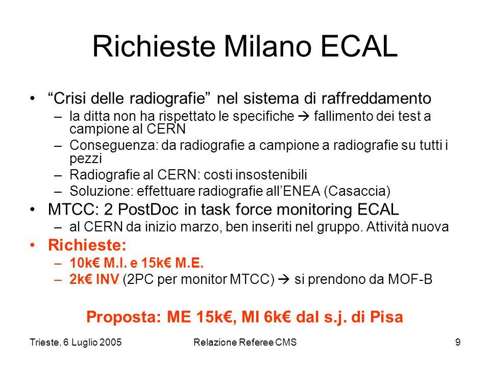 Trieste, 6 Luglio 2005Relazione Referee CMS10 DDU (Torino MU) Sono anni che ci lavorano.