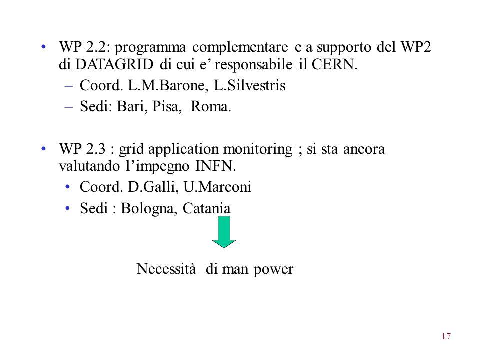 17 WP 2.2: programma complementare e a supporto del WP2 di DATAGRID di cui e' responsabile il CERN.