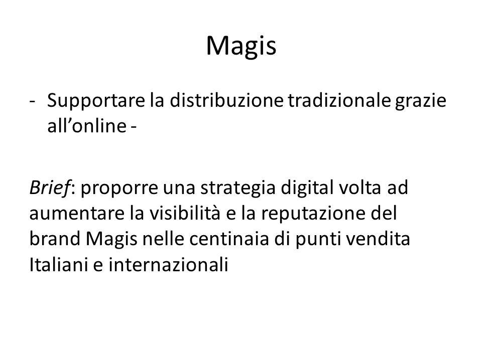 Magis -Supportare la distribuzione tradizionale grazie all'online - Brief: proporre una strategia digital volta ad aumentare la visibilità e la reputa