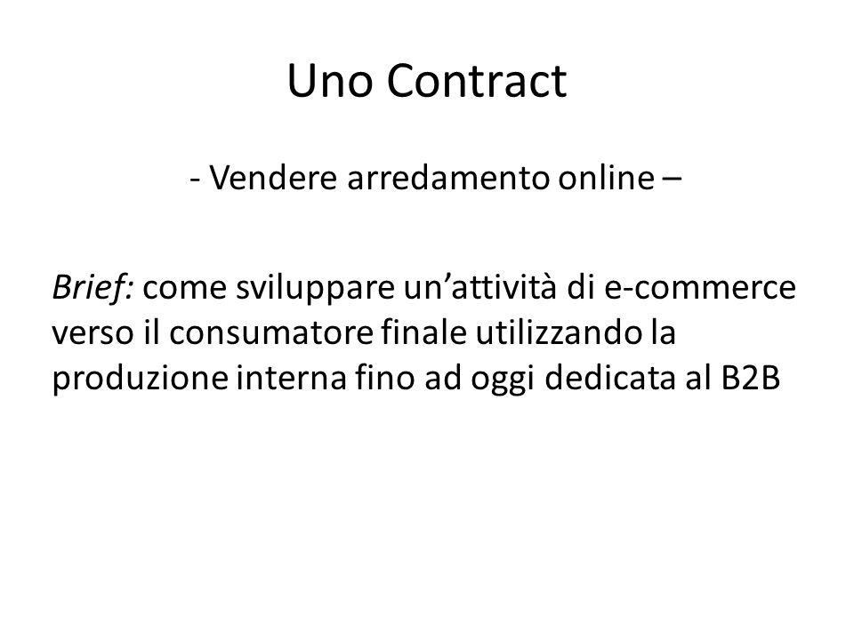 Uno Contract - Vendere arredamento online – Brief: come sviluppare un'attività di e-commerce verso il consumatore finale utilizzando la produzione int