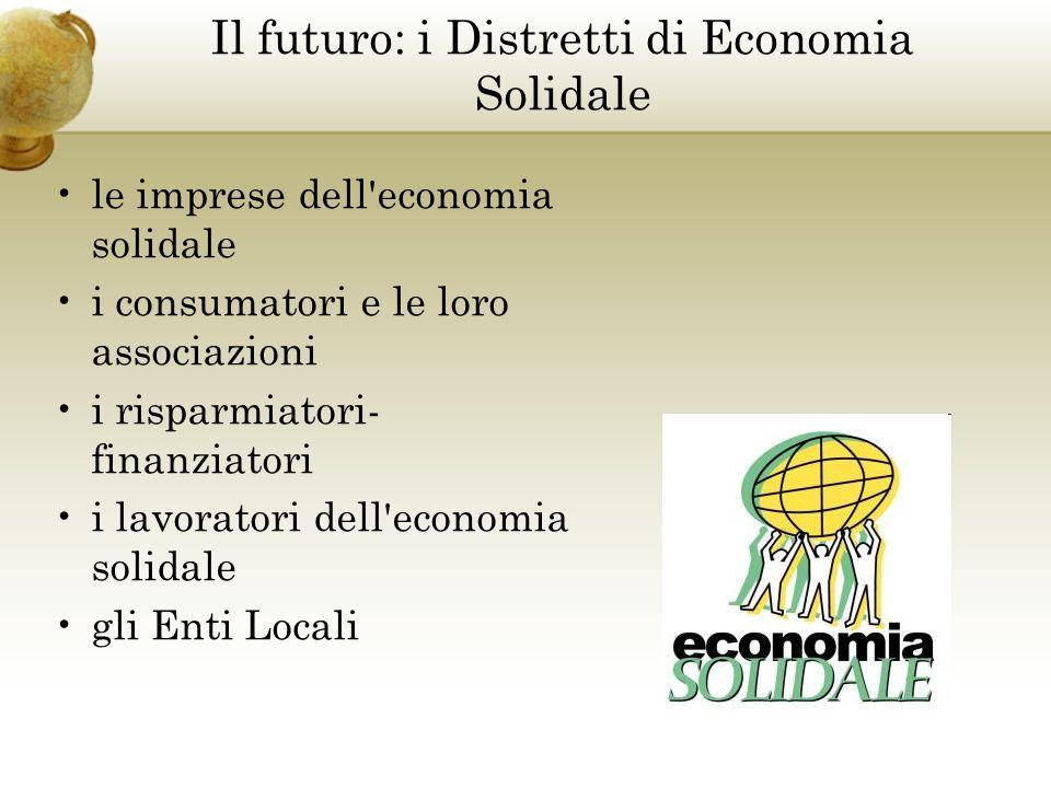 le imprese dell economia solidale i consumatori e le loro associazioni i risparmiatori- finanziatori i lavoratori dell economia solidale gli Enti Locali Il futuro: i Distretti di Economia Solidale