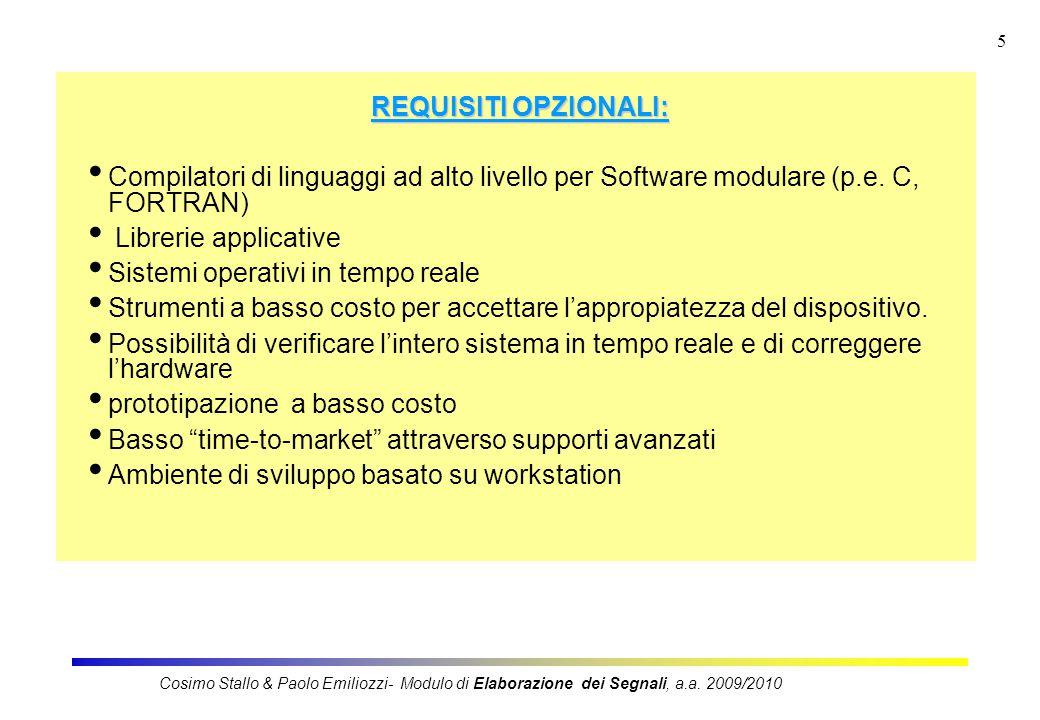 5 REQUISITI OPZIONALI: Compilatori di linguaggi ad alto livello per Software modulare (p.e.