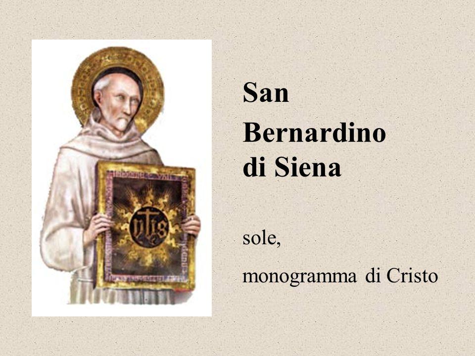 Bernardino di Siena San sole, monogramma di Cristo