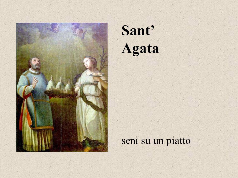 Agata Sant' seni su un piatto