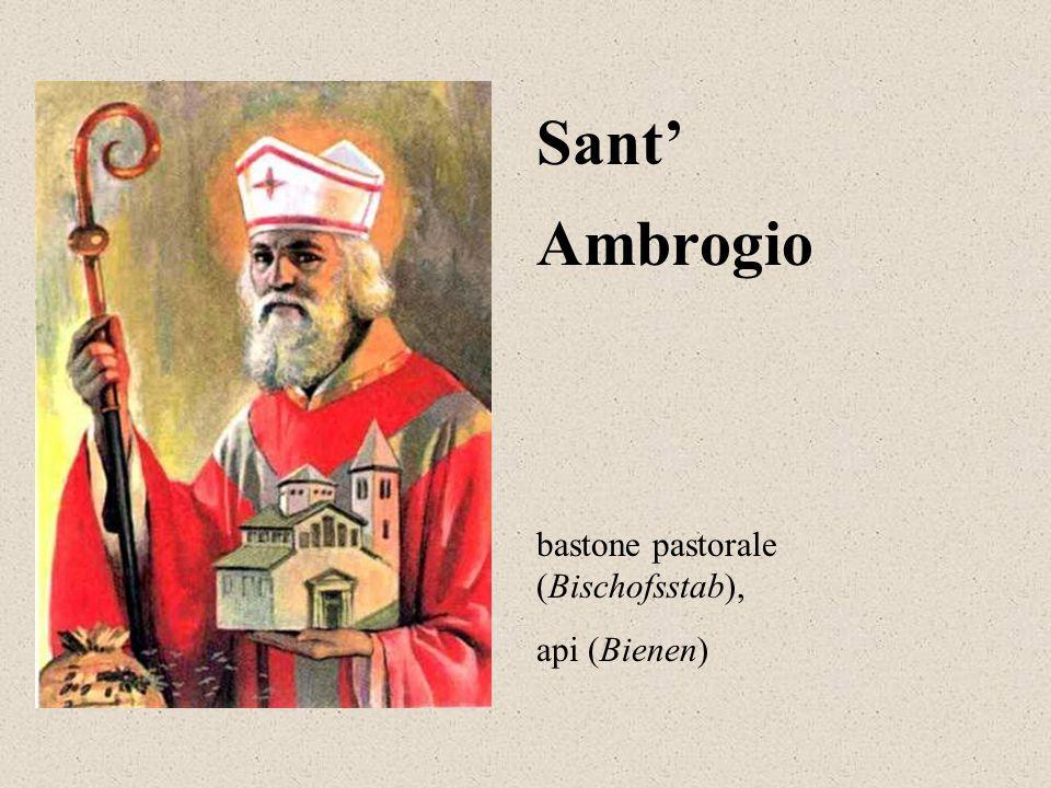 Ambrogio Sant' bastone pastorale (Bischofsstab), api (Bienen)