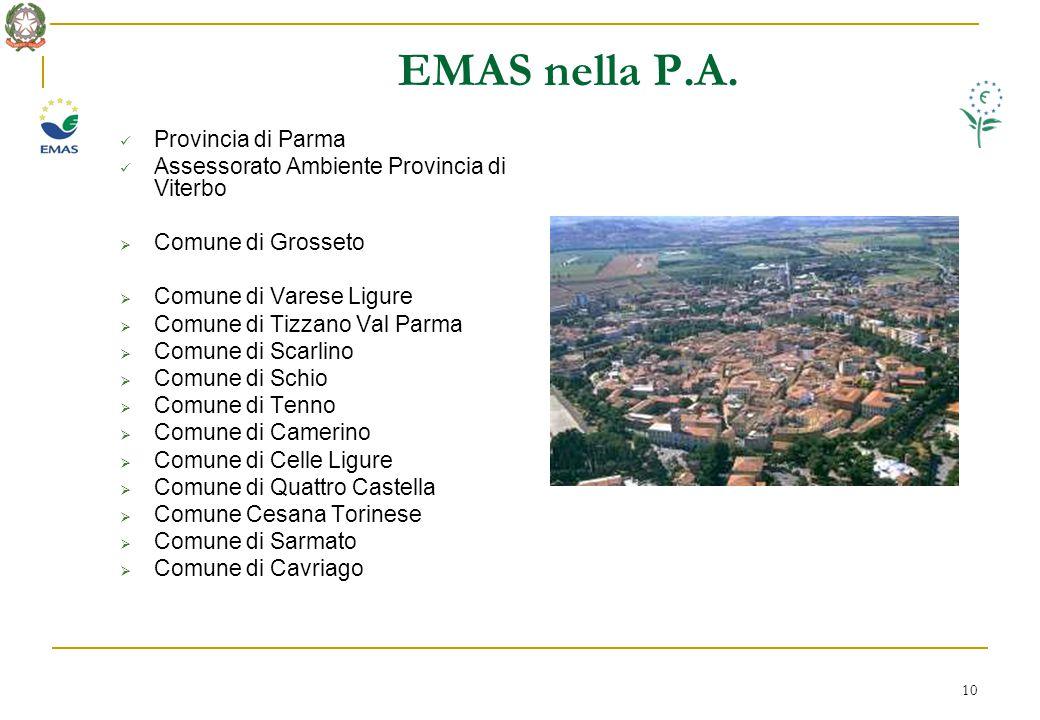10 EMAS nella P.A.