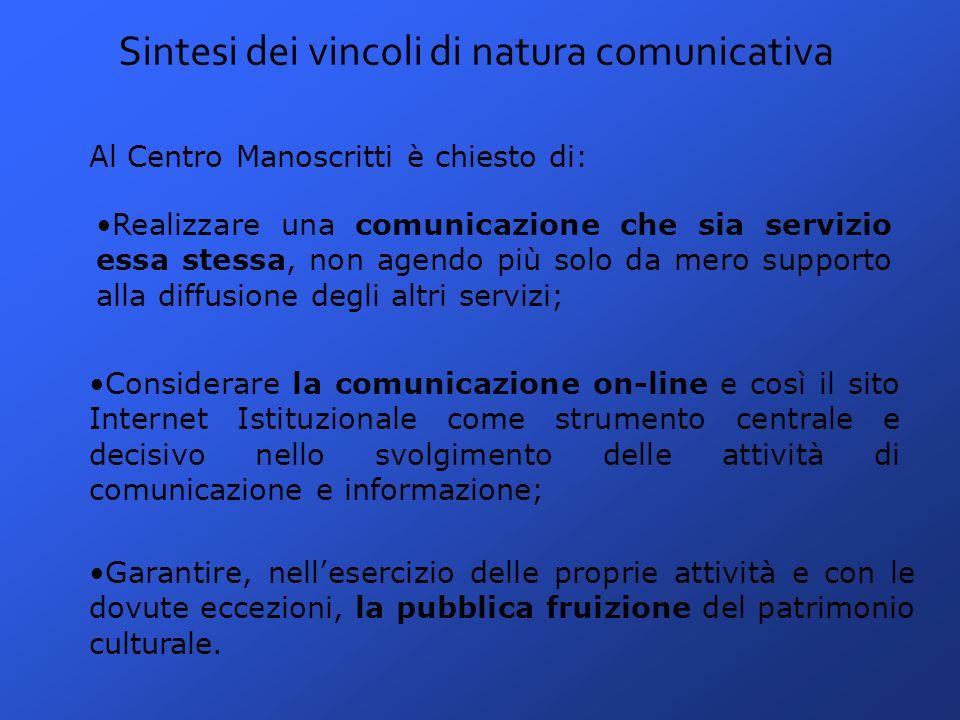 L'attuale sito Internet istituzionale L'attuale sito Internet del Centro Manoscritti di Pavia nasce nei mesi di settembre e ottobre del 2004, come frutto di un lavoro interno delle dott.
