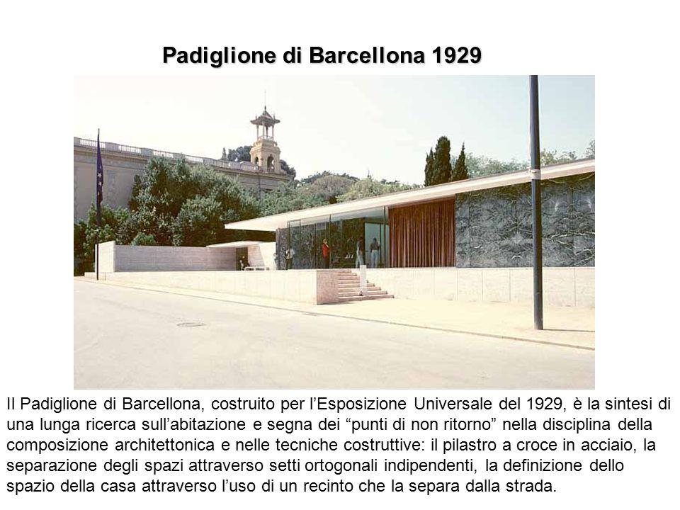 Padiglione di Barcellona 1929 Il Padiglione di Barcellona, costruito per l'Esposizione Universale del 1929, è la sintesi di una lunga ricerca sull'abi