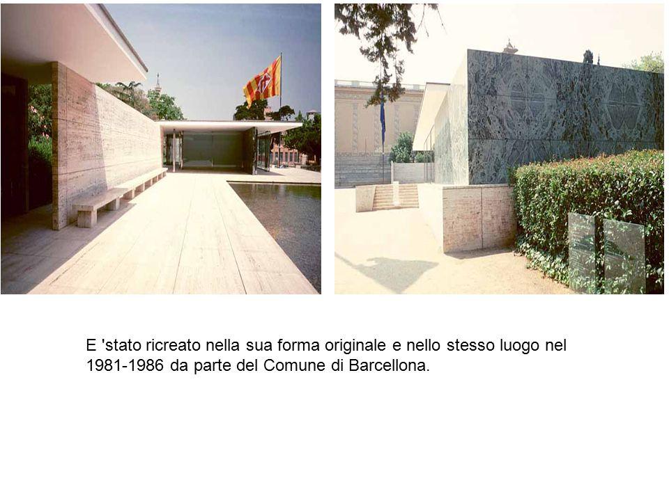 E 'stato ricreato nella sua forma originale e nello stesso luogo nel 1981-1986 da parte del Comune di Barcellona.