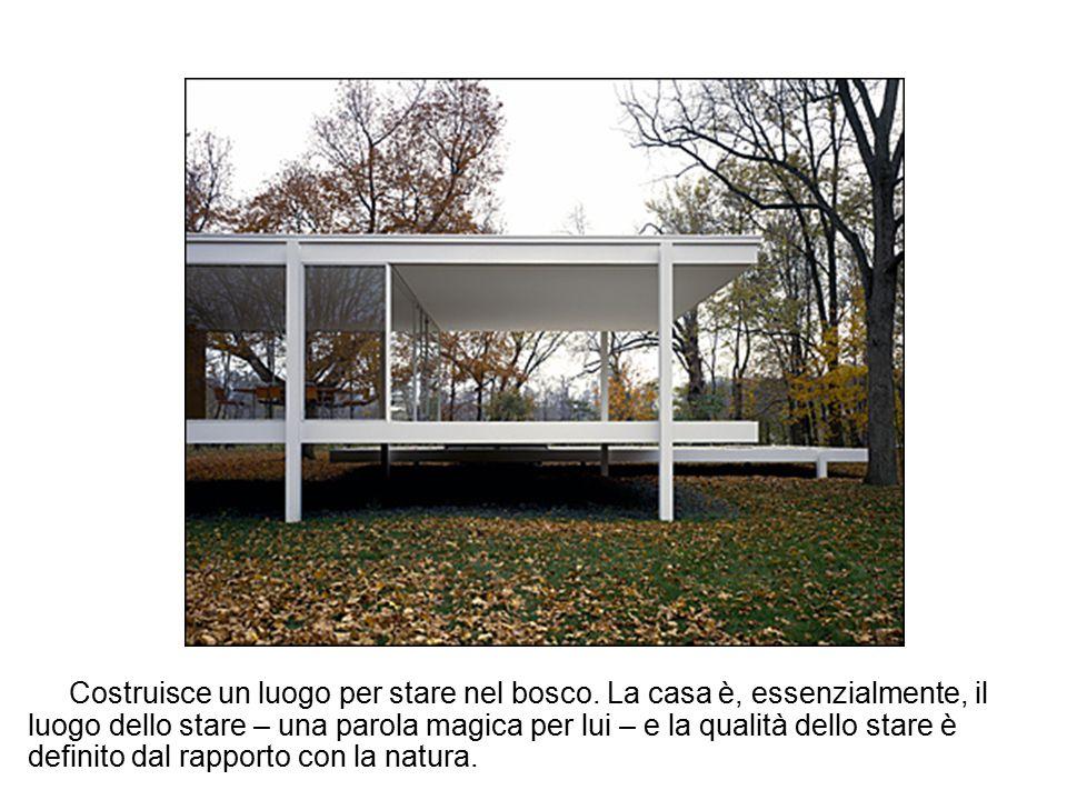 La Lake Shore Drive Apartments, Chicago, fotografata nel 1955 Nei Lake Shore Drive Buildings Apartments di Chicago (1948-'51), Mies inventa il cosiddetto curtain wall, un sistema di facciata realizzato in lastre di vetro sostenute da telai d'acciaio.