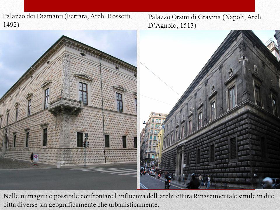 Nelle immagini è possibile confrontare l'influenza dell'architettura Rinascimentale simile in due città diverse sia geograficamente che urbanisticamente.