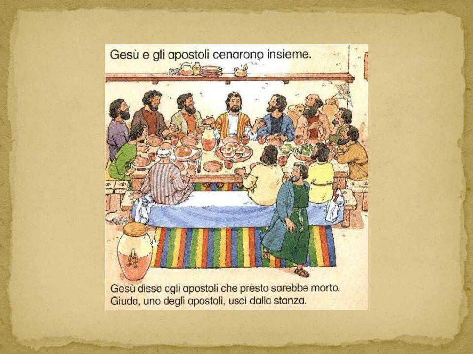 Sedevano dunque a una lunga tavola su cui erano posati i vassoi con l agnello pasquale, il pane e il vino.