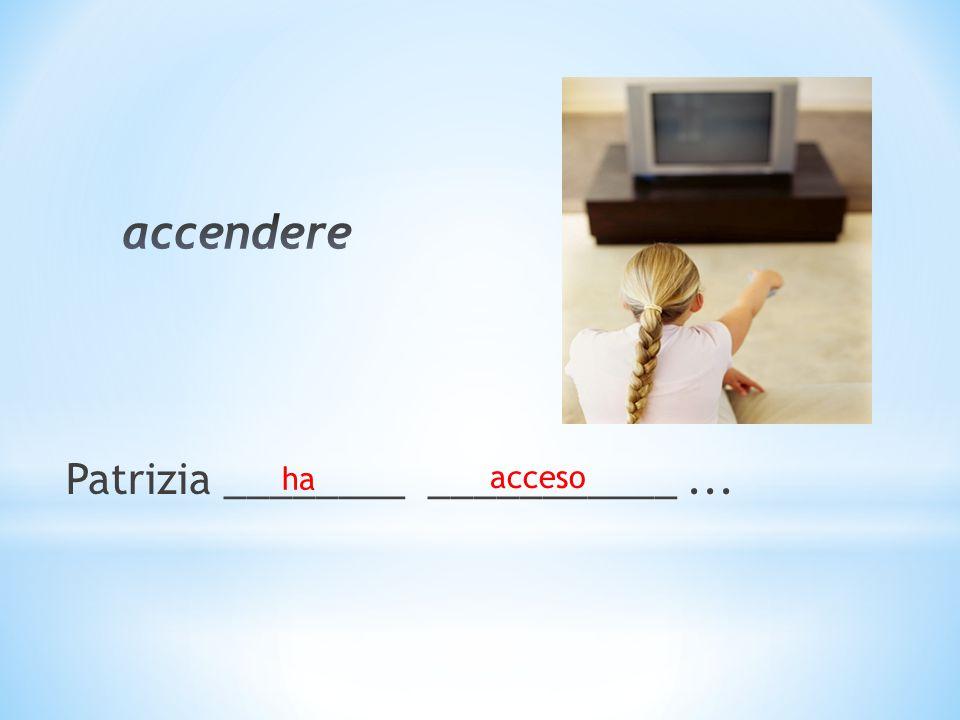 Patrizia ________ ___________... ha acceso
