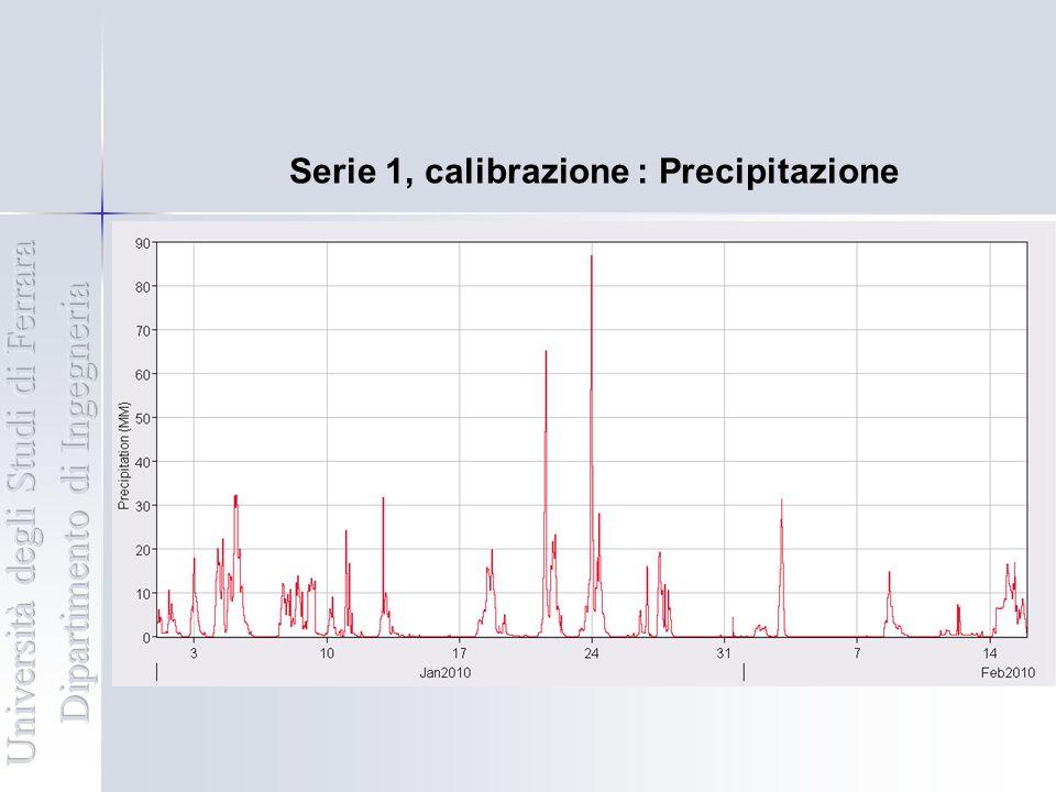 Serie 1, calibrazione : Precipitazione