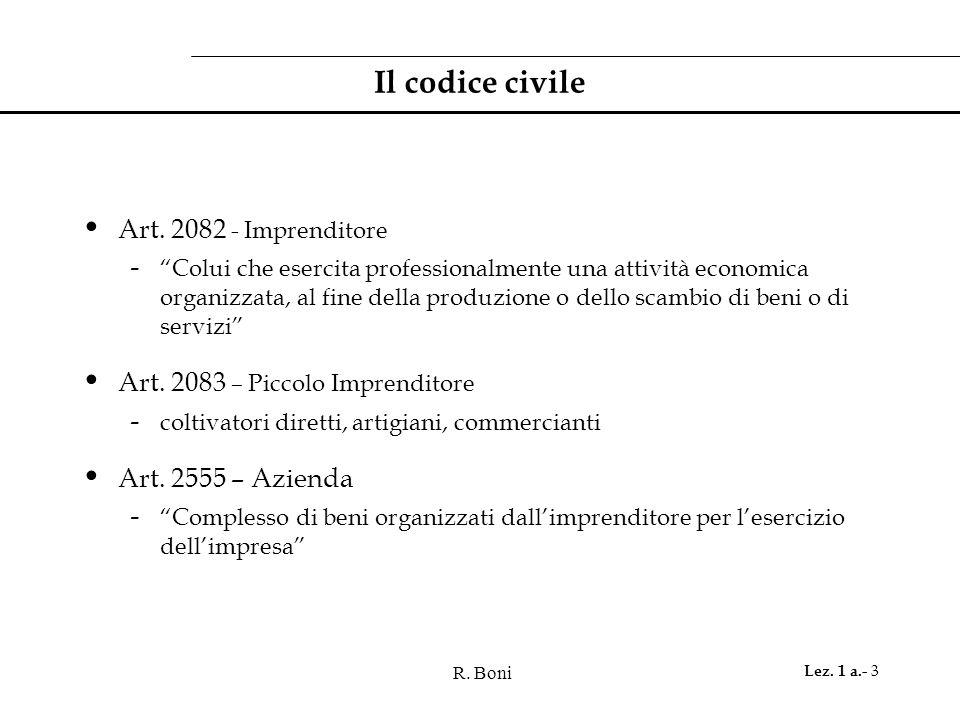 R.Boni Lez. 1 a.- 14 Cos'e' il Prodotto Interno Lordo .