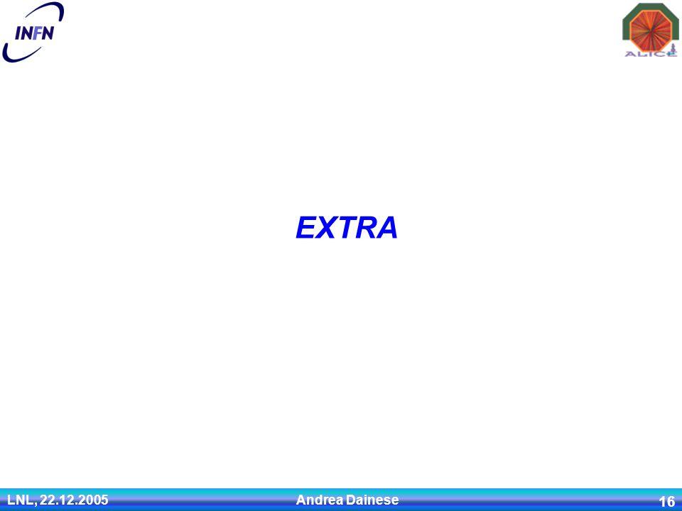 LNL, 22.12.2005 Andrea Dainese 16 EXTRA