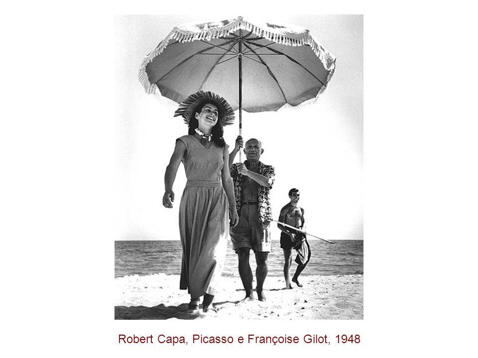Robert Capa, Picasso e Françoise Gilot, 1948