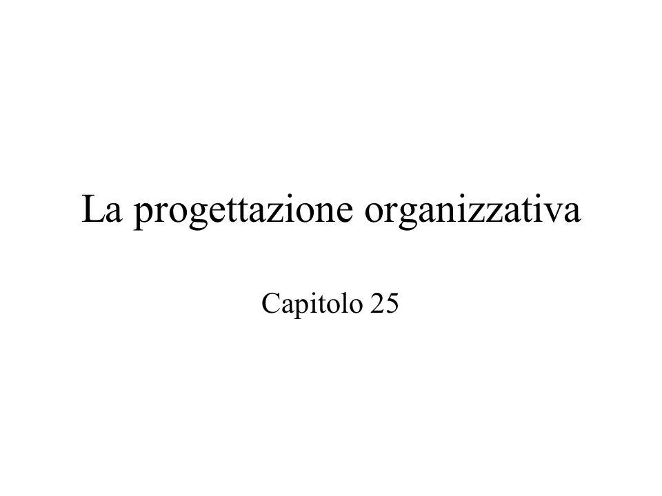 La progettazione organizzativa Capitolo 25