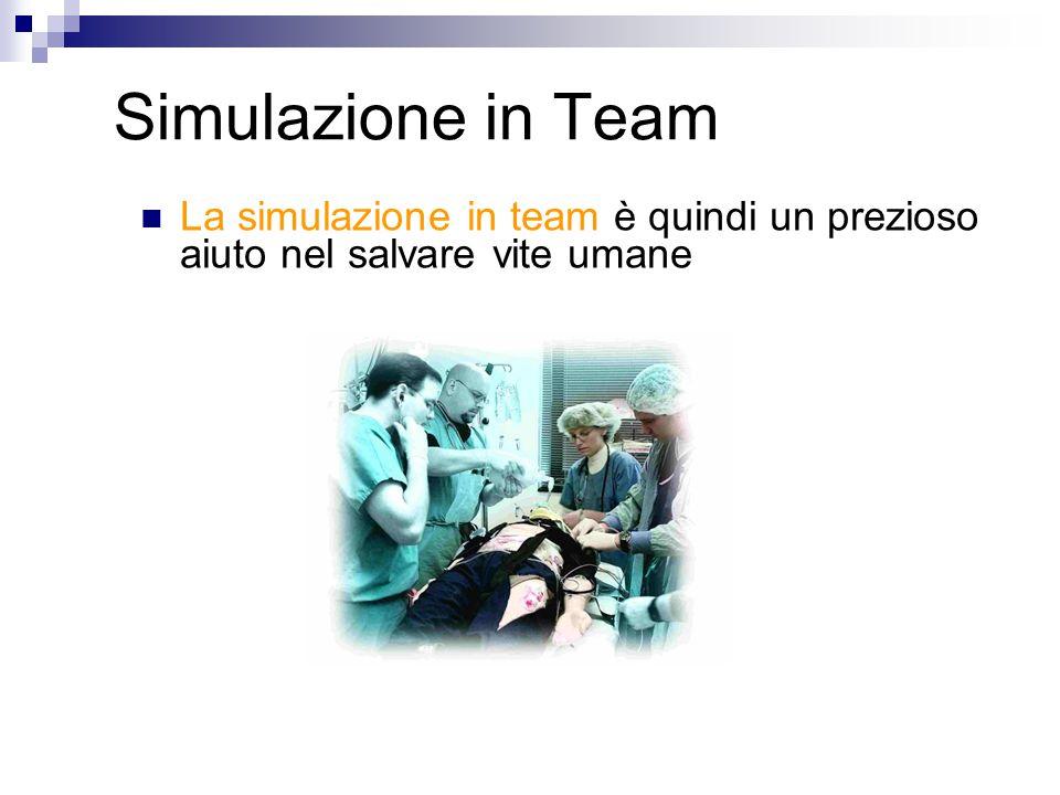 Simulazione in Team La simulazione in team è quindi un prezioso aiuto nel salvare vite umane