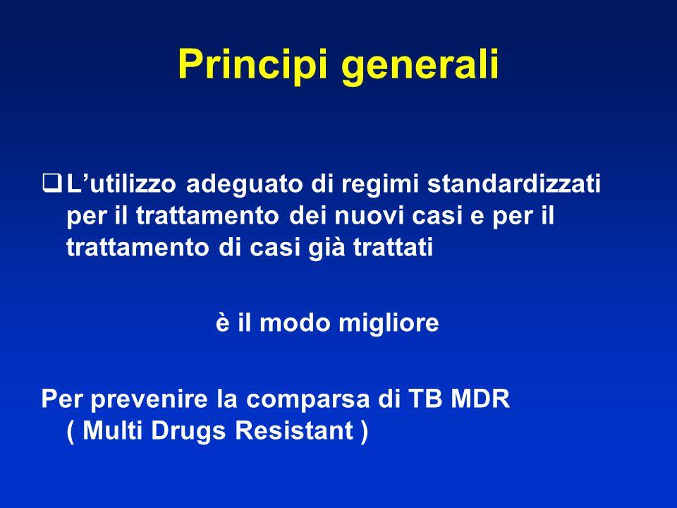  L'utilizzo adeguato di regimi standardizzati per il trattamento dei nuovi casi e per il trattamento di casi già trattati è il modo migliore Per prev