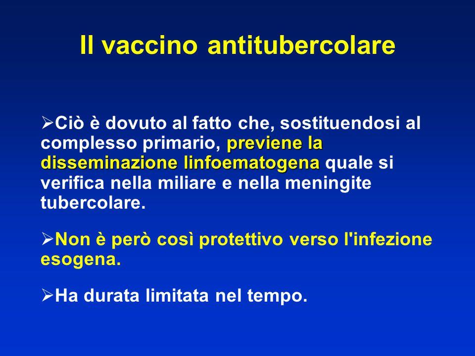 previene la disseminazione linfoematogena  Ciò è dovuto al fatto che, sostituendosi al complesso primario, previene la disseminazione linfoematogena