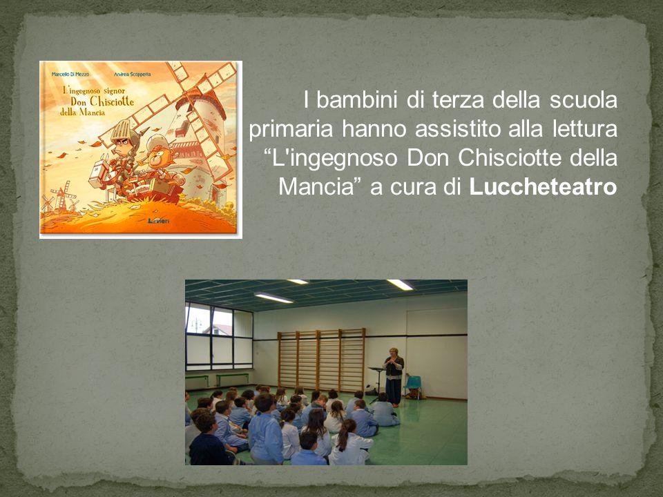 """I bambini di terza della scuola primaria hanno assistito alla lettura """"L'ingegnoso Don Chisciotte della Mancia"""" a cura di Luccheteatro"""