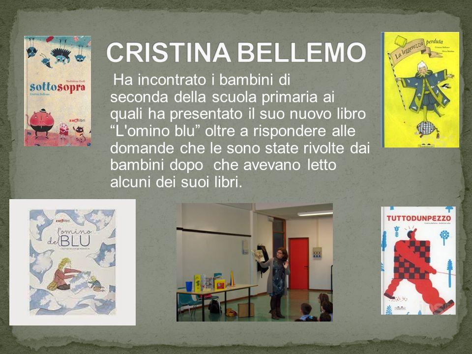"""Ha incontrato i bambini di seconda della scuola primaria ai quali ha presentato il suo nuovo libro """"L'omino blu"""" oltre a rispondere alle domande che l"""