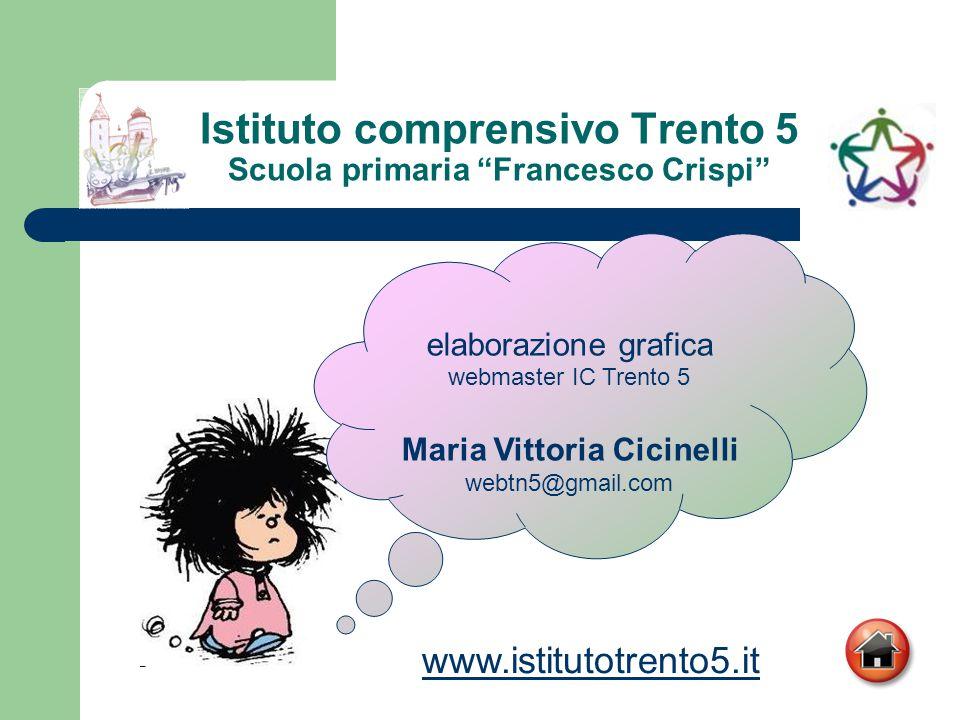 """Istituto comprensivo Trento 5 Scuola primaria """"Francesco Crispi"""" elaborazione grafica webmaster IC Trento 5 Maria Vittoria Cicinelli webtn5@gmail.com"""