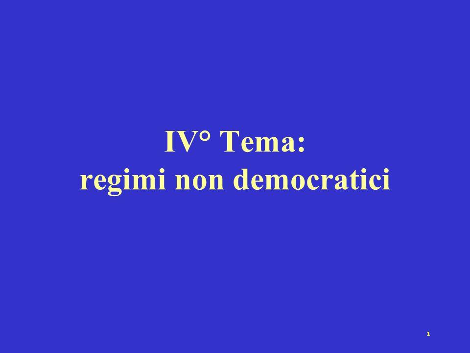 1 IV° Tema: regimi non democratici