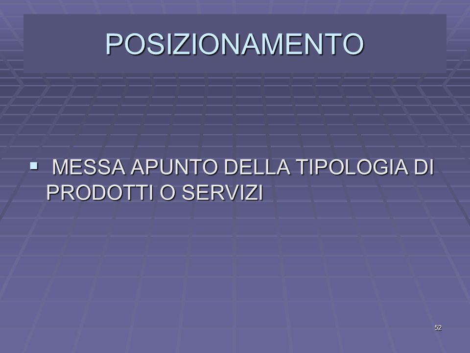 MISSION  SETTORE IN CUI OPERARE  FUNZIONE DI UTILITA' CHE SI INTENDE OFFRIRE AL CONSUMATORE-UTENTE  RUOLO NEL MERCATO 51