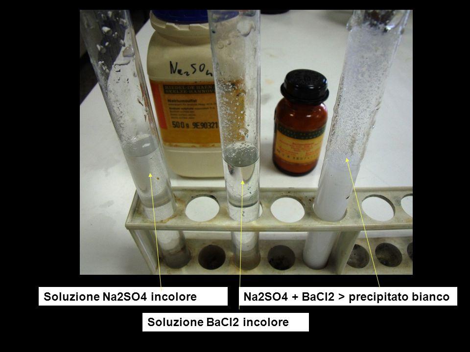 Riconoscimento radicale nitrato – mediante reazione con Cu Cu X (HNO3) 8 HNO3 + 3 Cu > 3 Cu(NO3)2 + 4 H2O + 2 NO Aggiungendo soluzione X a rame, si sviluppano gas rossicci 2 NO + O2 > 2 NO2